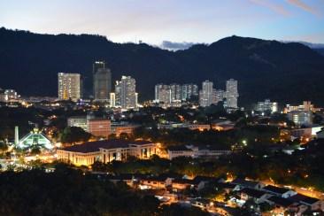 Backview from Sunny Ville Condominium, Penang, Malaysia
