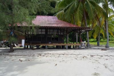Open dormitory on Wild Pasir Panjang beach