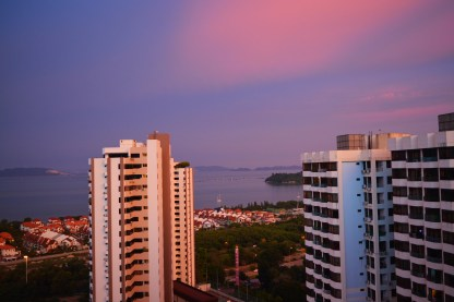 Sea view from living room @ Gelugor, Penang