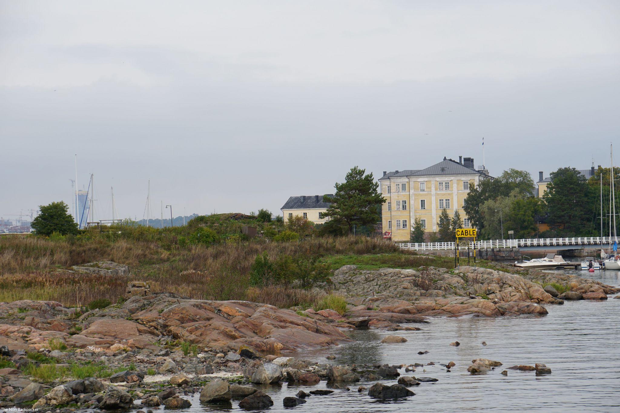 Islands in the harbour Helsinki