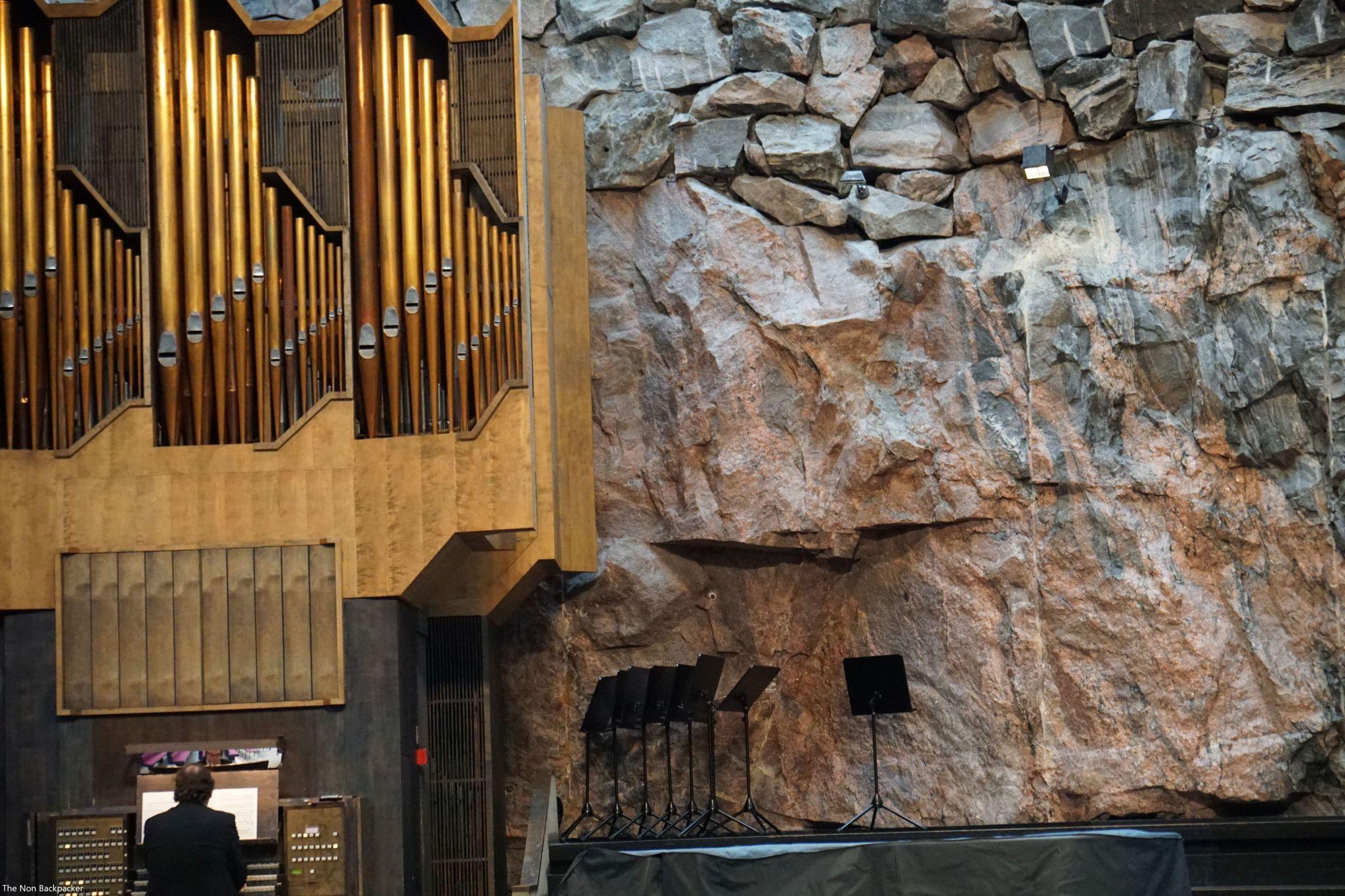 Organ inside the Rock Church