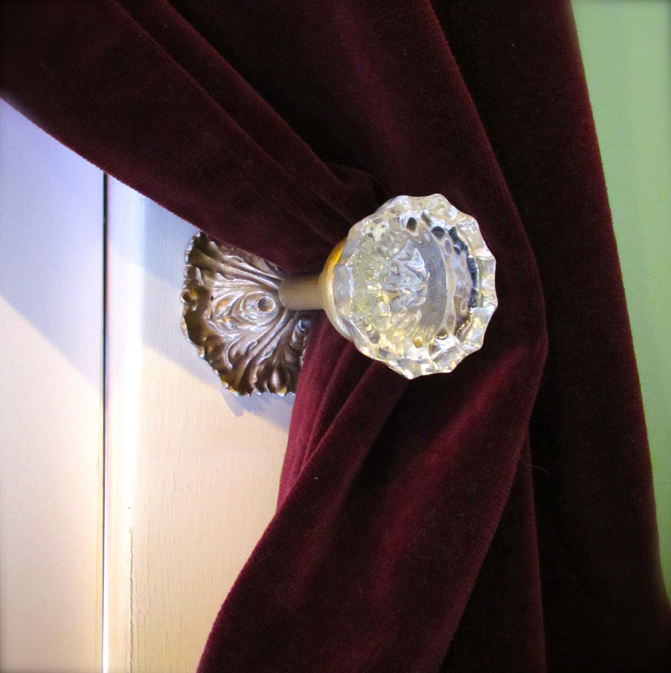 glass doorknob curtain tie backs
