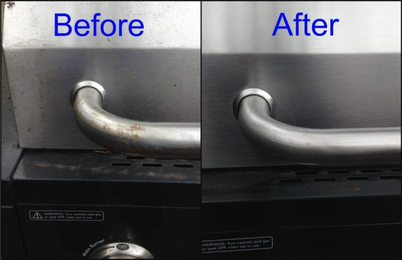 Bar Keeper's Friend cleans grill