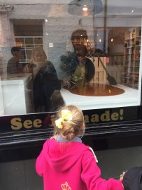 Watching fudge being made in Bowness.