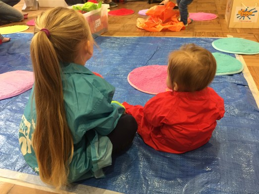 We went to The Creation Station launch- the girls first activity together and Bunny's first time painting.