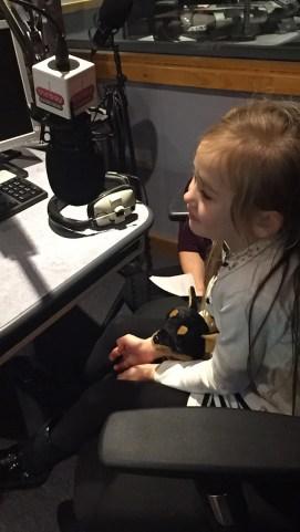 The Wildcat recording her next radio ad