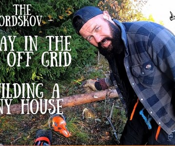 A day in the life off grid | Building a Tiny house