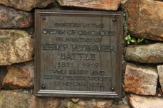A memorial in honor of the guy Battle Park is named after. (No actual battles here . . . that I know of.)