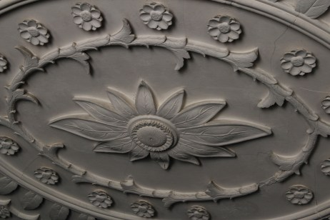 Hand carved plaster ceiling