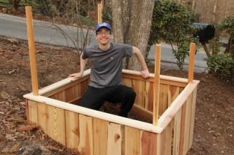 Scott in his sandbox.