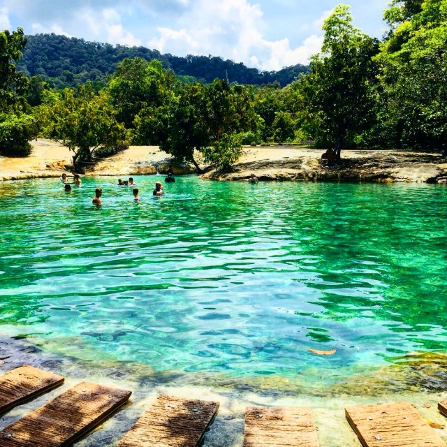 Krabi Hot springs and emerald pool photography