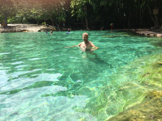 Krabi hot springs and emerald pool Thailand