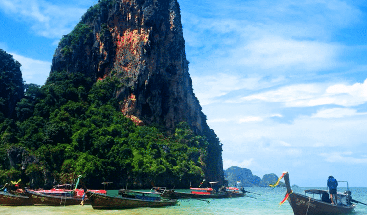 stunning Railay beach Krabi