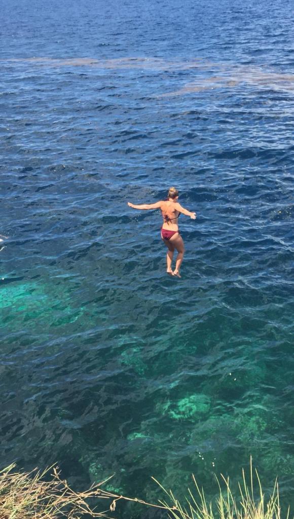 Molave cove cliff dive sea