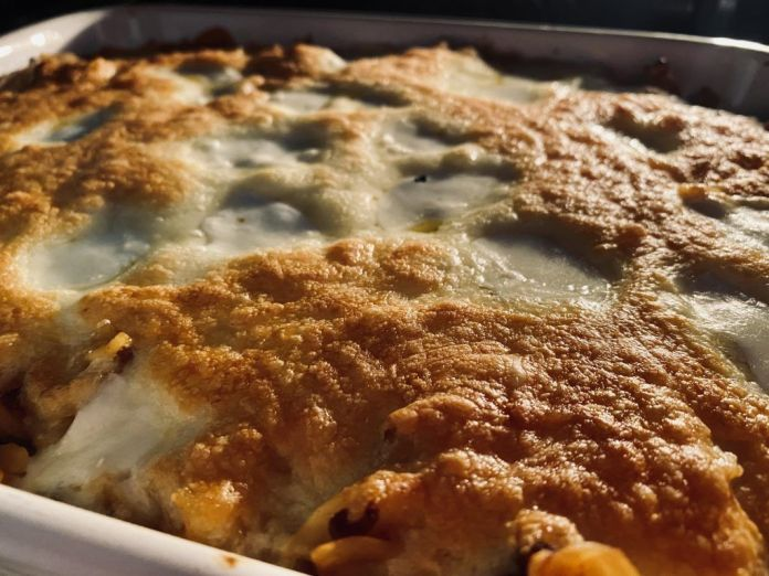 Bolognese Pasta bake in the oven