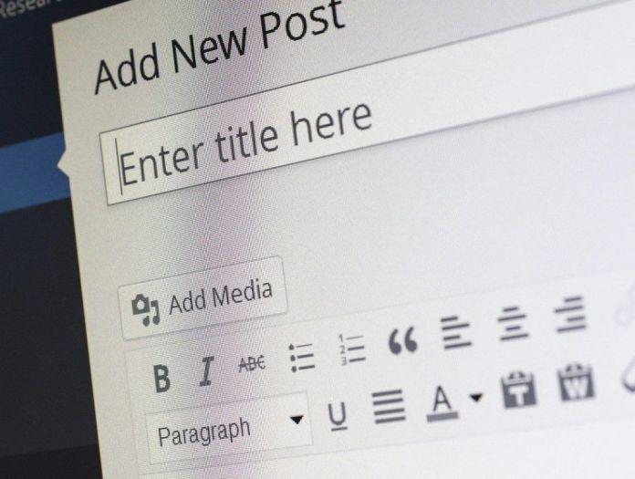 WordPress Add new post screenshot