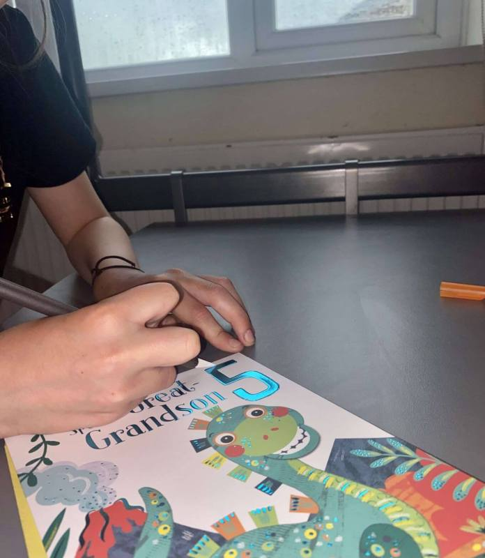 Lilly Using Saftery Craft Knife