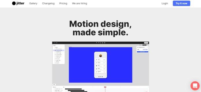 Jitter Video Homepage Screenshot