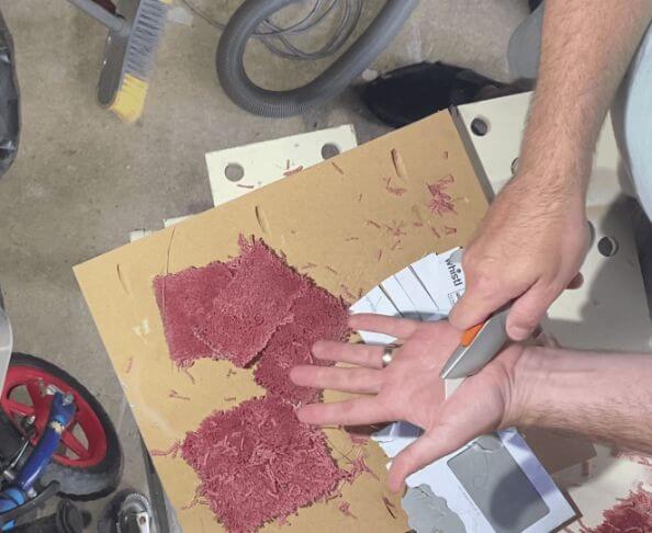Placing Ceramic Utility Blade On Skin