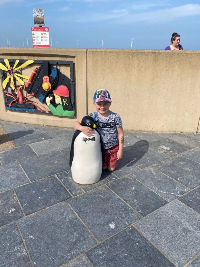 Alfie And A Penguin In Redcar