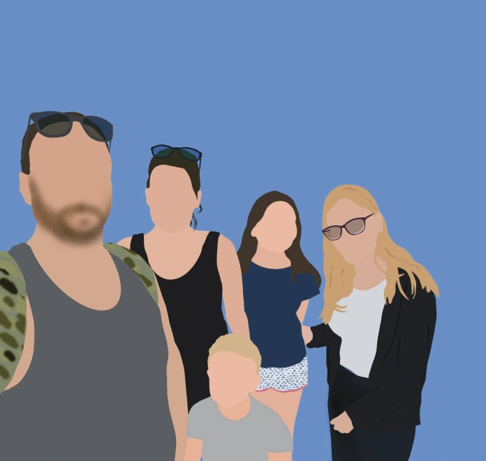 Founde Family Colour Illustration