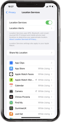 Iphone Privacy Location Services