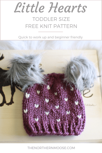 free hat knit pattern with little hearts
