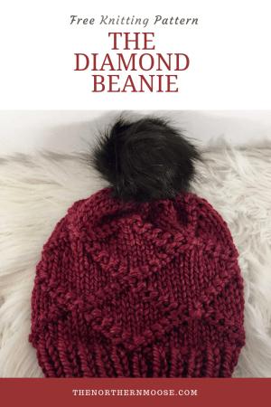 Free knitting pattern the diamond hat