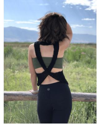 cross-back crochet top
