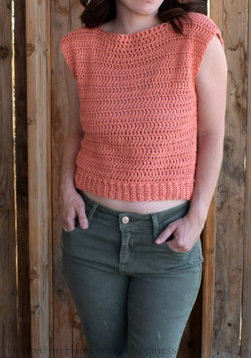 Summer valley crochet top