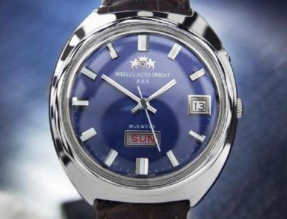 vintage orient watch 1970s day date