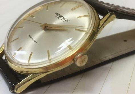 regency mech new crystal strap watch