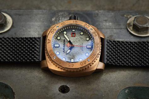 aragon parma bronze watch limited edition