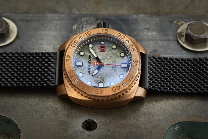 aragon parma bronze watch limited edition