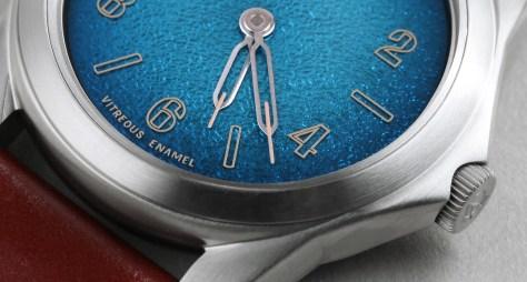 an ordain hands enamel dial blue