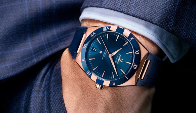 omega constellation blue dial