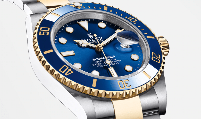 new-submariner gold blue dial