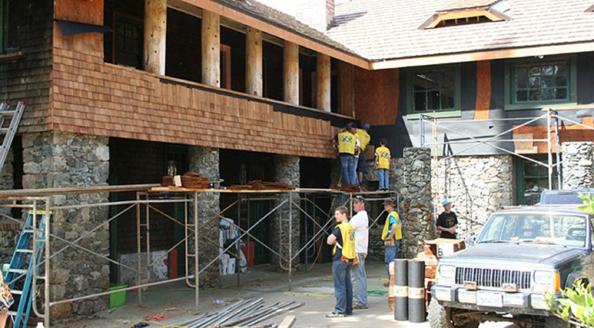 North Star House Grass Valley courtyard work