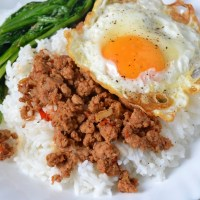 Sambal Minced Beef with Fried Egg