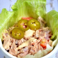 Tuna Salad with Harissa-Tahini Sauce