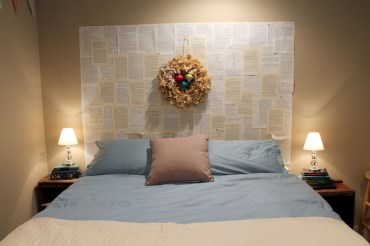 very simple decorating in the bedroom
