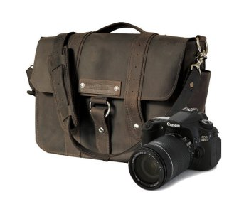 leather camera bag please