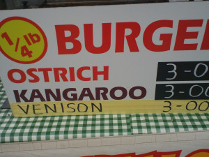 Ostrich or Kangeroo or Venison