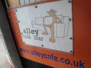 Alley Cafe Sign and Website