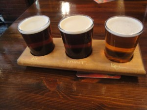 Three beer sampler
