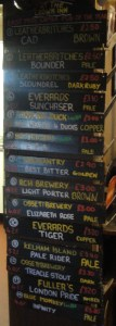 Crown Inn Beer List
