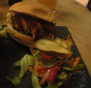 Cajunn Chicken Burger