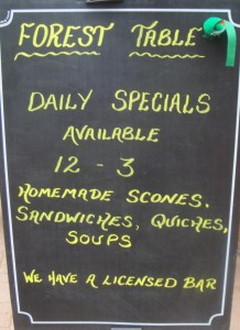 The Forest Table Specials