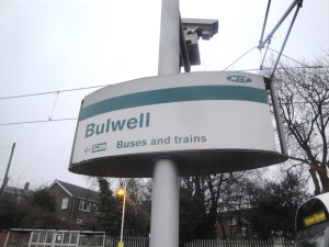 Bulwell Tram Stop sign