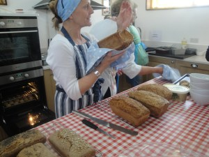 Gail at Home Farm Breadmaking